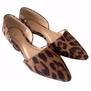 NWOT a new day Leopard D'Orsay Flats